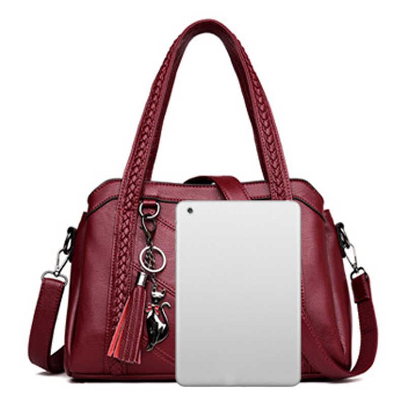 Luxe Handtassen Vrouwen Tassen Designer Lederen Handtassen Sac A Main Vrouwen Crossbody Messenger Bag Casual Tote Sac Schouder B