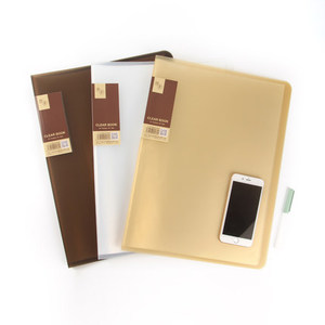 Image 3 - 20/30/40/60 Pockets School Booklet A3 Clear File Organizer PVC Bag Book Office Organizer For Documents
