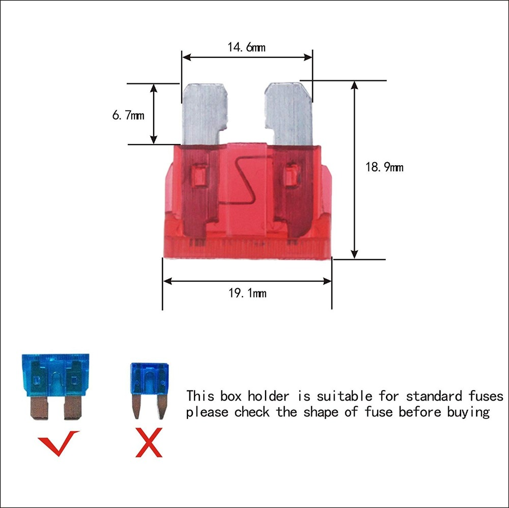 10 way and12 way car boat marine circuit led fuse block fuse box with screw terminal with accessories and kits in cables adapters sockets from  [ 1000 x 999 Pixel ]