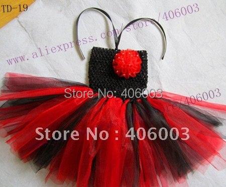 Вязаные крючком платья для маленьких девочек; красные и черные пачки для малышей; 6*6 дюймов; платье-пачка для новорожденных
