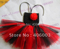 Crochet Baby Girl Dresses Toddler Red And Black Tutus 6 6inch Newborn Tutu Dress