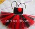 Crochet  Baby Girl Dresses Toddler  Red and Black  Tutus 6*6inch Newborn Tutu Dress