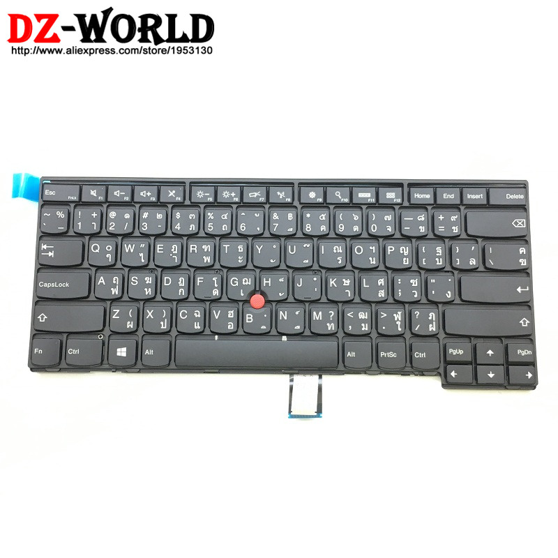 New Original Thai Keyboard For Lenovo Thinkpad T440 T440S T450S T450 T460 L440 L450 L460 Teclado TH Thailand 04Y0858 04Y0896