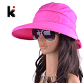 Envío libre 2017 sombreros de verano para mujeres chapeu feminino nueva moda viseras de sun del casquillo anti-ultravioleta del sombrero 8 colores