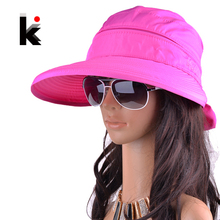 Бесплатная доставка 2017 лето шапки для женщин chapeu feminino новая мода козырьки крышка вс анти-уф шляпу 8 цвета