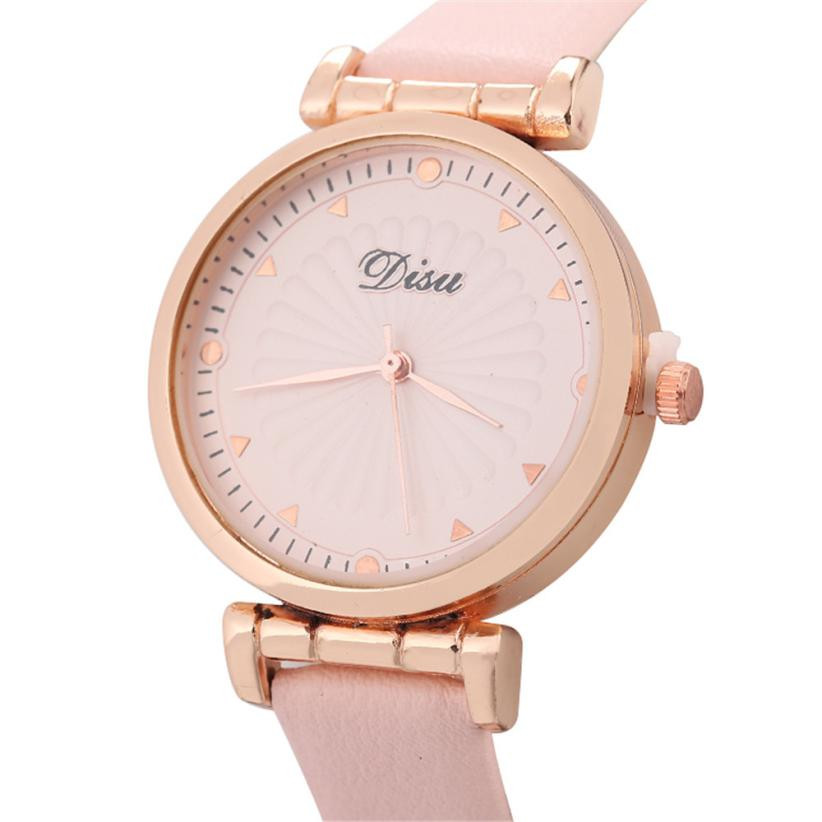 Rose Gold Women Watches Fashion Pink Female Leather Quartz Wrist Watch Clock Women Bayan Kol Saati 2018 Ladies Wrist Watches Наручные часы