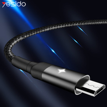 Yesido CA28 Smart Power Off Micro USB Cable For Samsung Xiaomi 2.4A Fast Charger Auto Disconnect Cord Phone Data