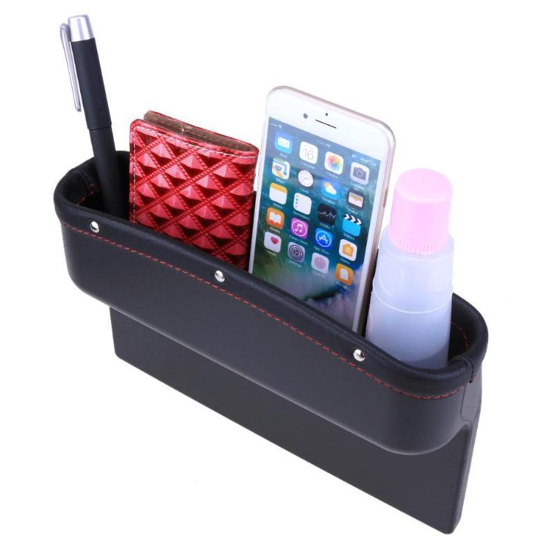 Universal Car Leather Leak-proof Storage Box Car Seat Side Gap Pocket Holder Car Organizer for Convenient Search Gap Filling цена