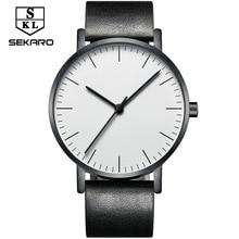 Great Sekaro New Simple Watch Menu0027s Ultra Thin Waterproof Quartz Watch Women  Luxury Table Top Brand