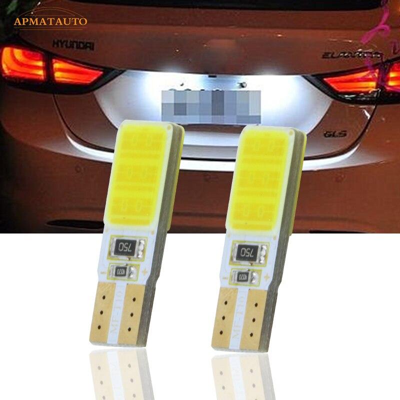 2 X T10 W5W License Number Plate Light LED Bulbs Lamp For Hyundai Tucson IX35 I30 Elantra Accent Sonata Santa Veracrus Rohens