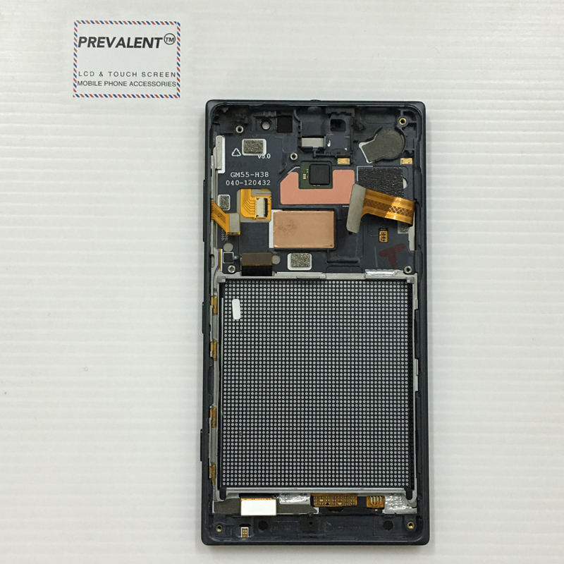 For Nokia Lumia 830 N830 RM-984 Touch Screen Digitizer Sensor Glass Panel + LCD Display Monitor Panel Module Assembly + Frame