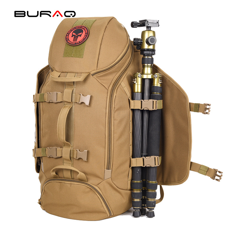 Grey Solid Color Black Multi Function Tactical Backpack Outdoor ...