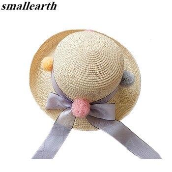 SMALLEARTH de niñas de moda niños sombreros de paja verano bebé sol ...