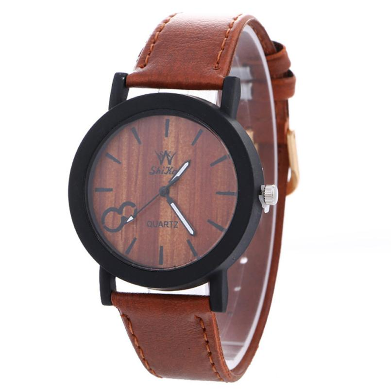 Relojes Feminio watches womens bracelet Watch new Neutral Simple fashion dress ladies Leather Quartz WristWatch 2017 hot sale