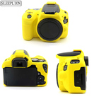 Sleeplion Soft Silicone Rubber Camera Bag For Canon EOS 200D Protective Body Case Cover Battery Openning EOS 200D Camera