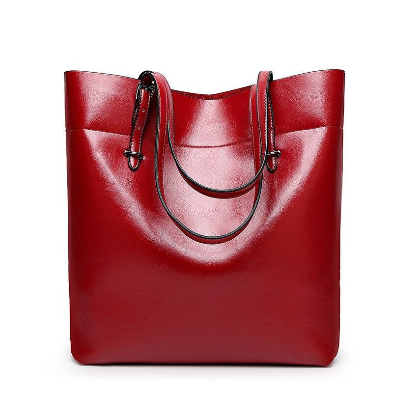ed72c3df88 longmiao Women s Casual Handbag Shoulder High Quality Leather Crossbody Simple  Black Brand Bucket Bag Professional Totes Bolsas-in Shoulder Bags from ...