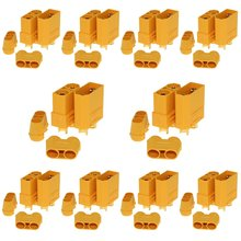 10 Pair Amass XT90 XT-90 Male Female Bullet Connectors Power Plugs with Shealf Housing for RC Lipo Battery Motor