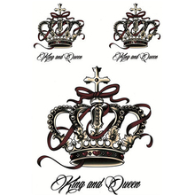 1Pcs Luxury Crown Tattoo Metallic Stickers Waterproof Temporary Tattoo Transfer Stickers Body Art 3D Sticker Tatouage Temporaire