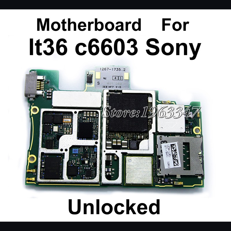 100 Original unlocked For Sony Xperia Z L36h C6603 C6602 Motherboard Mainboard Logic Board Parts Replacement