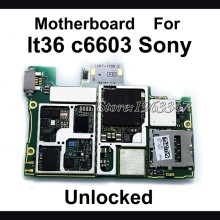 100% Original unlocked  For Sony  Xperia Z  L36h C6603  C6602   Motherboard  ,Mainboard Logic Board Parts Replacement