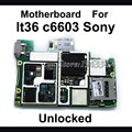100% abierto original para sony xperia z l36h c6603 c6602 placa base, placa base Placa Lógica Partes de Reemplazo