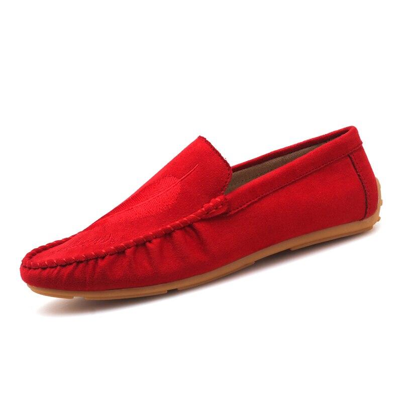 kaq Mocassins Printemps Pour red Hommes Conduite Mince Ultra Hei Bas Souple Casual Flats Bateau Enfiler 2018 Légères Eté Chaussures UY45w