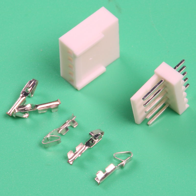 2.54mm pitch male female wire connector terminal kf2510 20 sets kit 5 Pin wire electrical Connector car crimp cable automotive