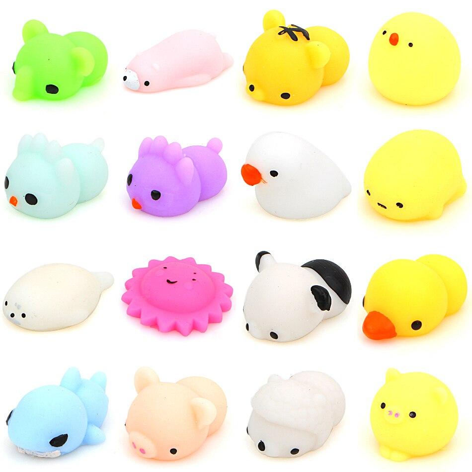 Squishy Mushy Box : 16 Pcs/Box Kawaii Animal Slow Rising Squishy Panda/tiger/pig/sheep/duck/rabbit/chick Cute Phone ...