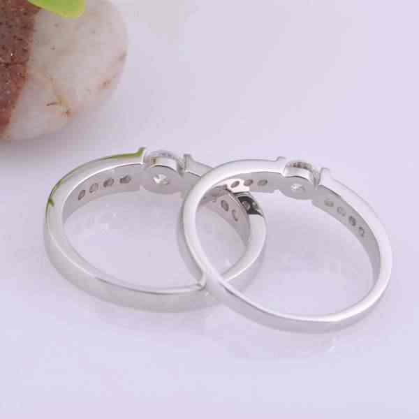 2016 חדש Vashiria טבעת מאהב טבעת זוג תכשיטי אופנה נחמדים מצופה זהב 925 טבעת אירוסין J292