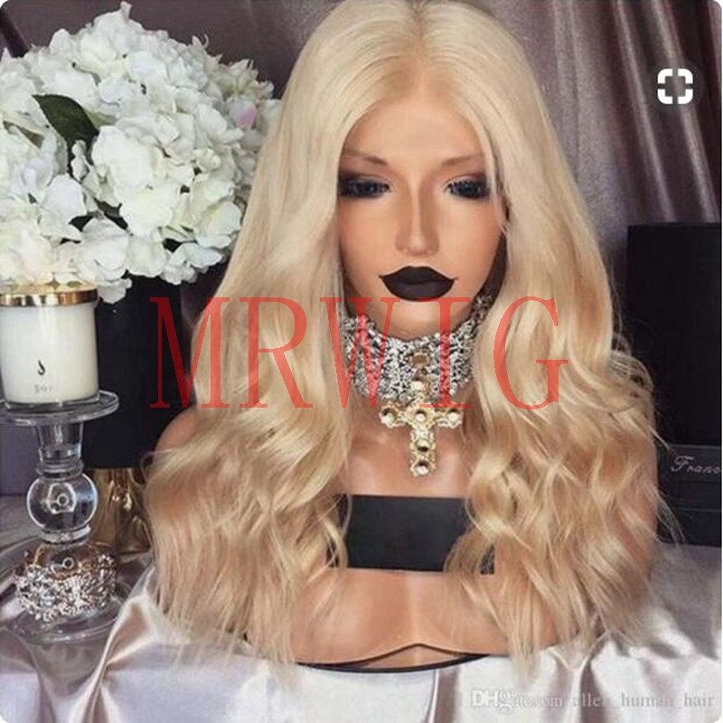 MRWIG middle part blonde hair #0809 color synthetic 18inch picture for african americans&cosplay heat resistant fiber comb