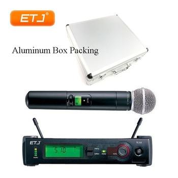 SLX24/Beta58  Aluminum Box UHF Wireless Microphone Professional Karaoke Handheld Microphone Top Quality SLX4 SLX2