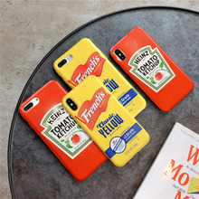 KAIEN Glitter tomato ketchup French mustard fashion soft cover for Apple