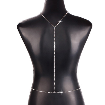 Shiny Rhinestone Front or Back Body Chain6