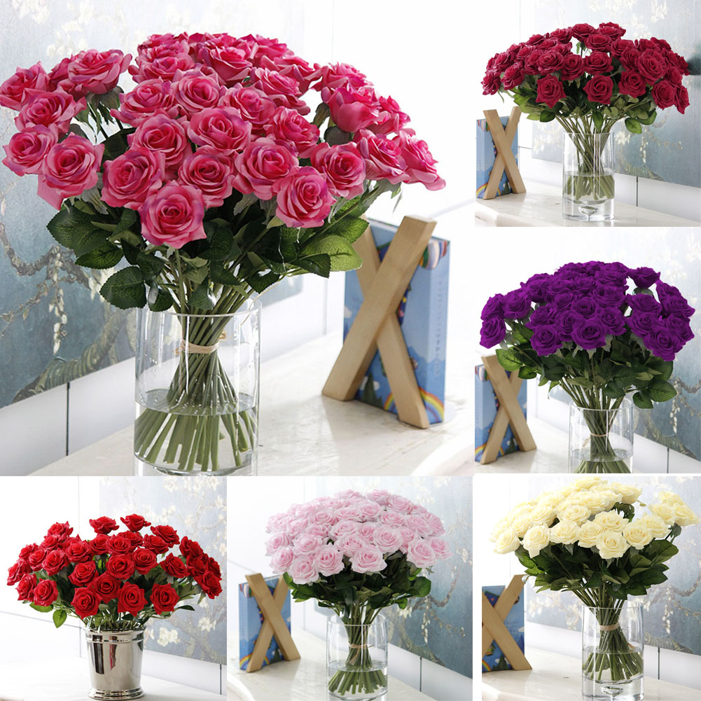 Artificial Hydrangea Bouquet Home Wedding Fake Bridal Silk Flowers