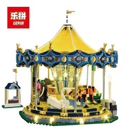 IN STOCK 15013 3263PCS 15036 2705 PCS 15036B With Light City Street Carousel Model Building Kits