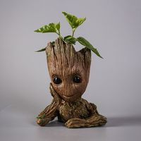 Tree Man Groot Action Figure Penholder PVC Marvel Movie Hero Model Guardians Vessel Guardians Of The