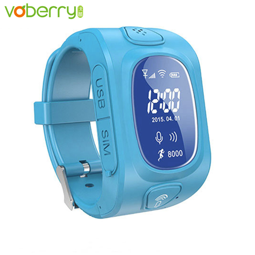 Voberry smart watch kids gps tracker watch phone for children with GPS/GSM/Wifi positioning phone Android&IOS Anti Lost scomas children smart watch band gps tracker anti lost with sim card slot kids baby smart wristband phone watch for android ios