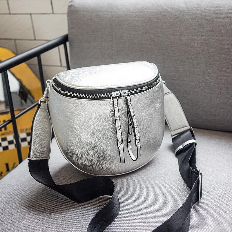 New 2018 Fashion Women Messenger Bag High Quality PU Leather Women Handbag Wide Strap Female Shoulder Bag Lady Crossbody Bag