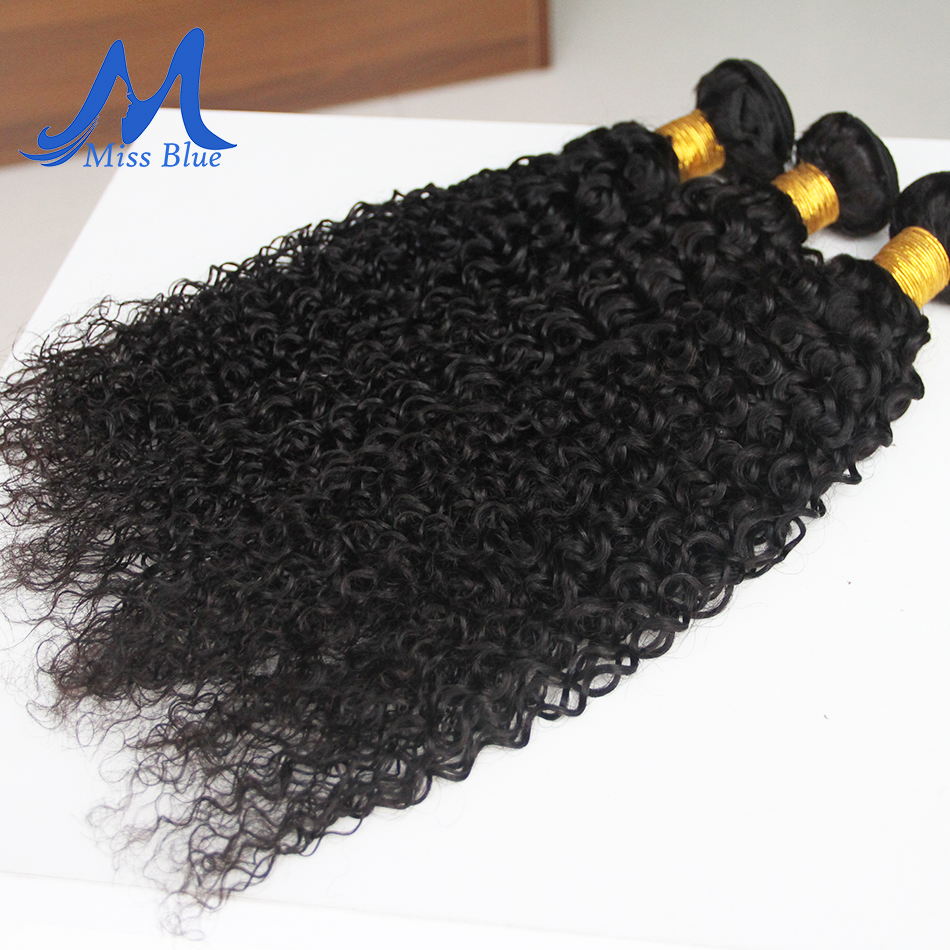 Missblue Kinky Curly Hair Bundles Brazilian Hair Weave Bundles 100% Remy Human Hair Extensions 3 4 Bundles Lots Natural Color 7