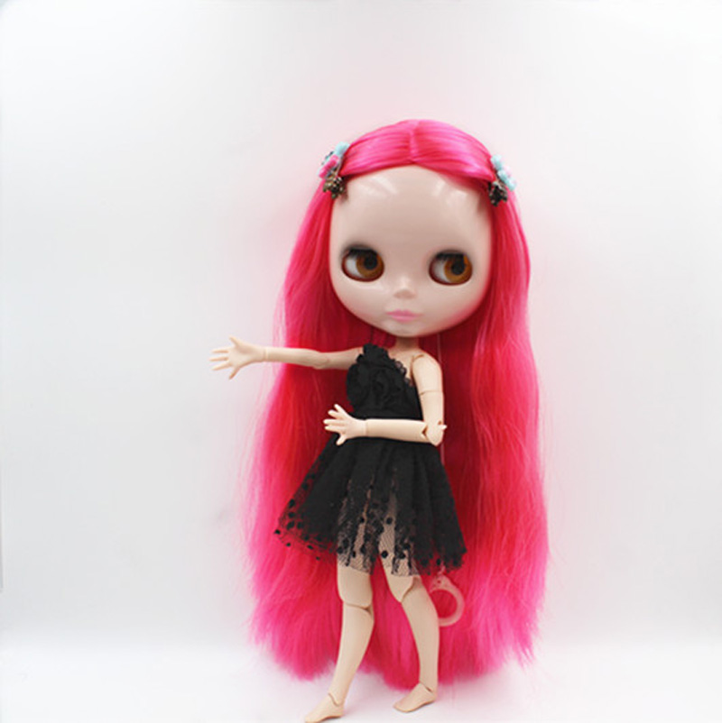 Free Shipping BJD joint RBL-388J DIY Nude Blyth doll birthday gift for girl 4 colour big eyes dolls with beautiful Hair cute toy free shipping bjd joint rbl 415j diy nude blyth doll birthday gift for girl 4 colour big eyes dolls with beautiful hair cute toy