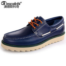 Odescalchi New Men Shoes Genuine Leather Fashion Martin Shoes Lace Up High Quality Flats Brand Designer Shoes Casual