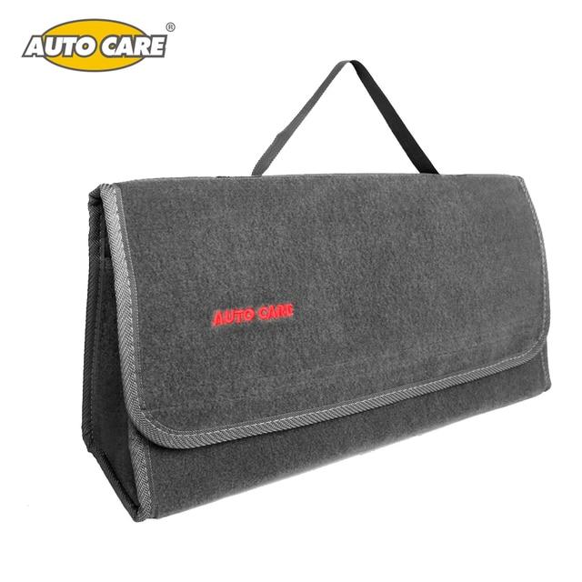 Large Car Smart Tool Bag Grey Trunk Storage Organizer Bag Built in Strong Velcrofix System Holds to Car Carpet