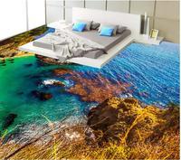 3 d pvc flooring custom wallpaper seaside scenery 3 d bathroom flooring stereograph photo wallpaper for walls 3d