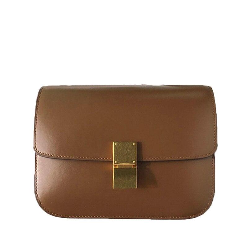Buyuwant Echtem leder taschen für Frauen Retro box tasche leder handtasche einfache quadratische schulter taschen GN SB fgxfjy-in Schultertaschen aus Gepäck & Taschen bei  Gruppe 1