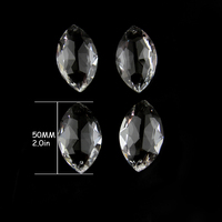 38 100mm Clear Wholesales Horse Eye Crystal Prism Chandelier Pendants For Gorgeous Home / Curtain Decor