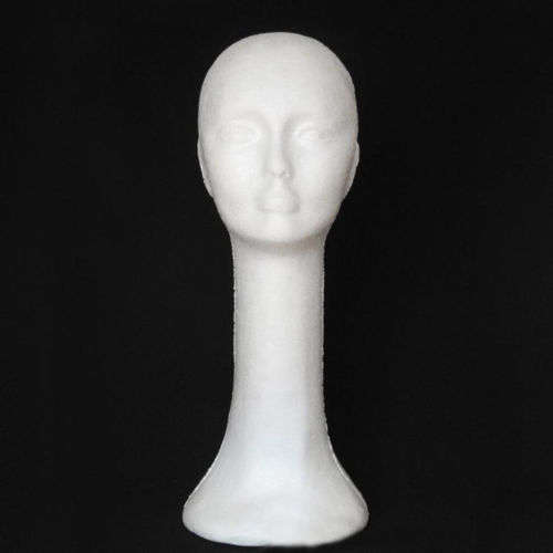Foam Female Human Head Long Neck Mannequin Wig Hat Display Stand Model Exquisite Hot Foam Long Neck Woman Model