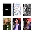 KPOP Youpop GOT7 Rígido Carry MARCA Júnior JB Álbum LOMO Cartões K-POP de Moda de Nova Auto moldura Feita de Papel Cartão HD LK435 Photocard