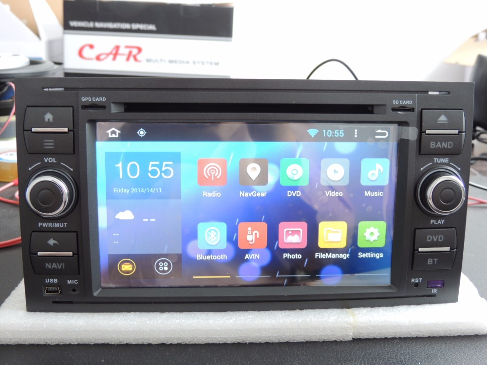 yokotron 7 touch 2 din android 4 4 car radio dvd for ford focus 2005 2006 2007 gps navigation. Black Bedroom Furniture Sets. Home Design Ideas
