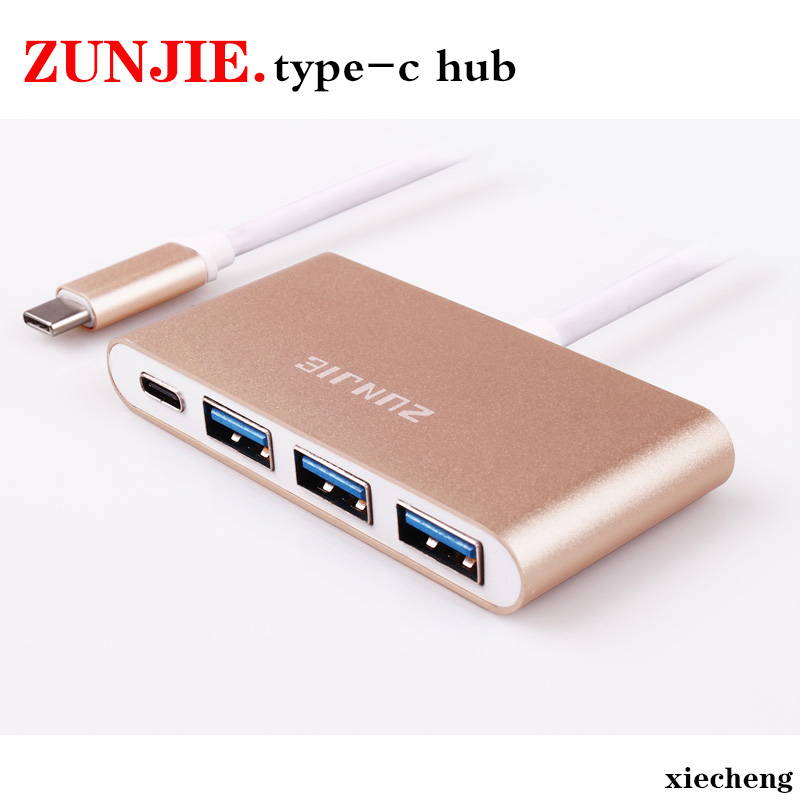 High Quality USB C Type-c 3.1 to USB 3.0 Cable USB C HUB Support OTG USB-C 4 in 1 3 Ports Hub for Macbook for Google Pixel usb 3 1 type c to 7 ports usb 3 0 hub high speed usb c type c cable hub usb 5v 4a for pc computer laptop