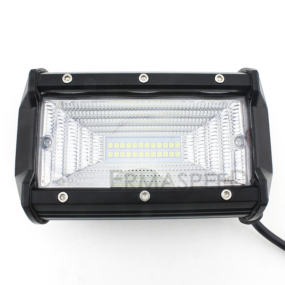 Pair LED Motorcycle 72W Aluminum Spot Light Fog Lamp 6000K Headlight for Harley Honda Kawasaki Yamaha Cruiser Bobber